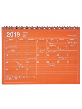 2019 Notebook Calendar M Orange - Mark's