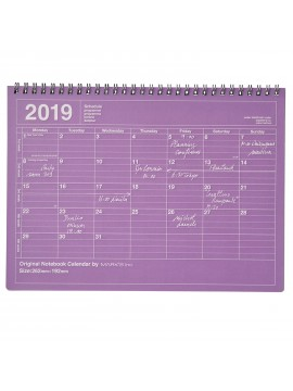 2019 Notebook Calendar M Purple - Mark's