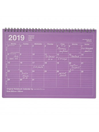 Calendrier 2019 M Violet - Mark's