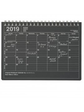 2019 Notebook Calendar S Black - Mark's