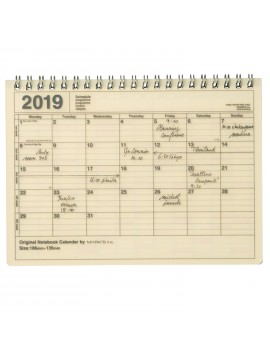 2019 Notebook Calendar S Ivory - Mark's