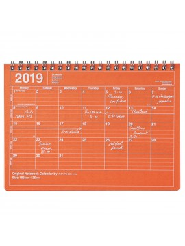 2019 Notebook Calendar S Orange - Mark's