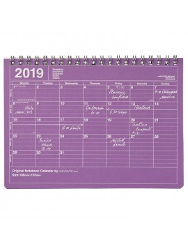 2019 Notebook Calendar S Purple - Mark's