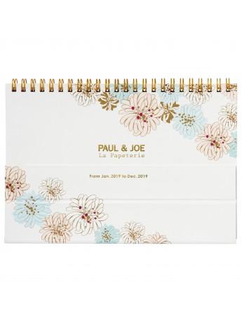 2019 Notebook Calendar Chrysanthemum White - PAUL & JOE