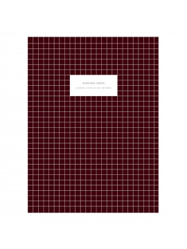 Notebook Large Softcover Check Bordeaux -  Kartotek