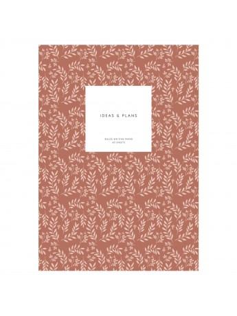 Notebook Softcover M Leaves Terracotta - Kartotek