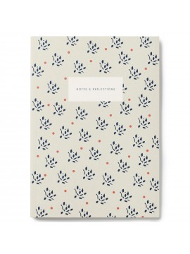 Notebook Small Softcover A5  Floral Sand - Kartotek
