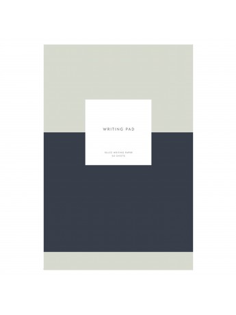 Notepad with cover Writing Pad Navy - Kartotek