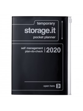 2020 Diary A5 vertical, Storage.it // Black