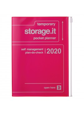 2020 diary weekly vertical 16 Months A5 Neon Pink - Storage.it