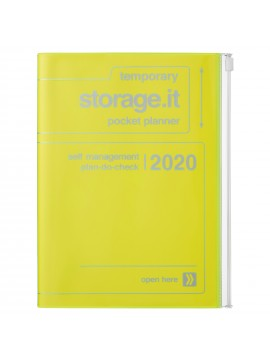 2020 diary weekly vertical 16 Months A5 Neon Yellow - Storage.it