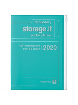 2020 diary weekly vertical 16 Months A5 Turquoise - Storage.it