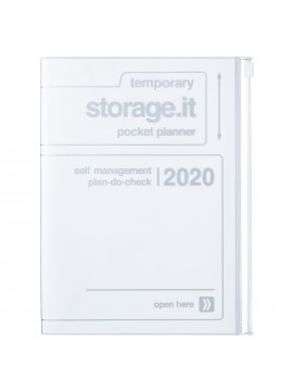 2020 diary weekly vertical 16 Months A5 White - Storage.it