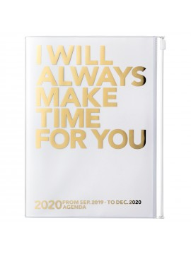 2020 diary weekly vertical 16 Months A5 Gold - Make Time