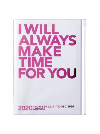 2020 diary weekly vertical 16 Months A5 Pink - Make Time