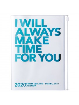 2020 diary weekly vertical 16 Months A5 Turquoise - Make Time