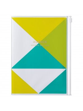 2020 diary weekly vertical 16 Months A5 Yellow - Geometric