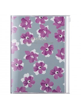 2020 diary weekly vertical 16 Months A5 Gray - Flower