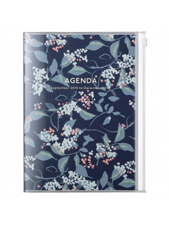 2020 diary weekly vertical 16 Months A5 Navy - Flower