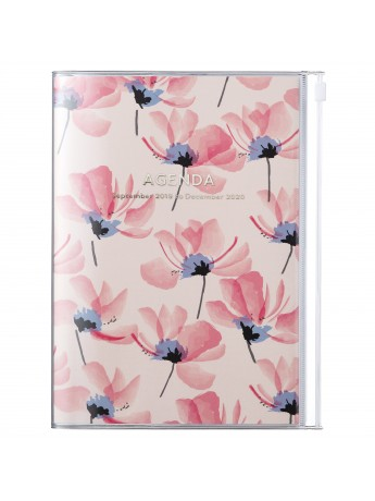 2020 diary weekly vertical 16 Months A5 Pink - Flower