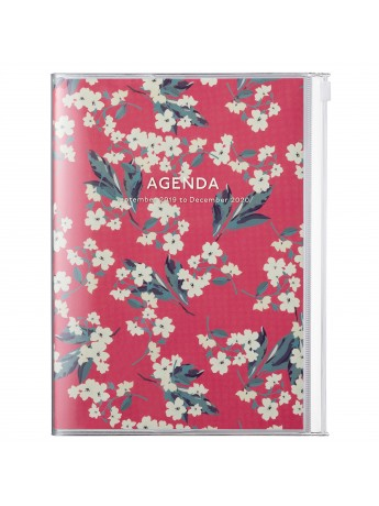 2020 diary weekly vertical 16 Months A5 Red - Flower