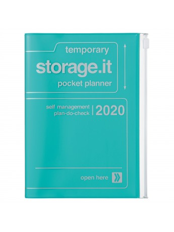 2020 diary weekly B6 Vertical 15 Months Turquoise - Storage.it
