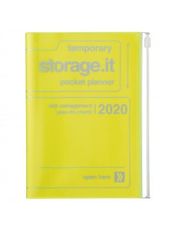 2020 diary weekly B6 Vertical 15 Months Neon Yellow - Storage.it