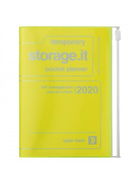 2020 diary weekly vertical 16 Months A6 Neon Yellow - Storage.it