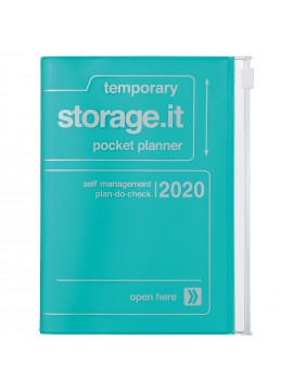 2020 diary weekly vertical 16 Months A6 Turquoise - Storage.it