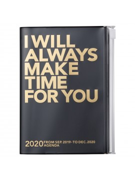2020 diary weekly vertical 16 Months A6 Black - Clear Storage