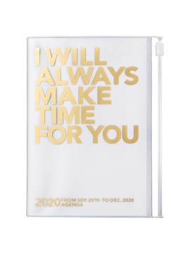 2020 diary weekly vertical 16 Months A6 Gold - Clear Storage