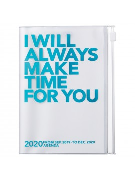 2020 diary weekly vertical 16 Months A6 Turquoise - Clear Storage