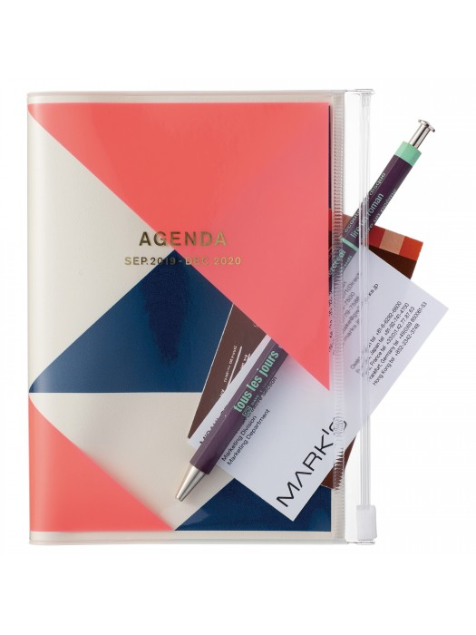 Geometric Pattern Taschenkalender 2020 Pink A5 Mark/'s