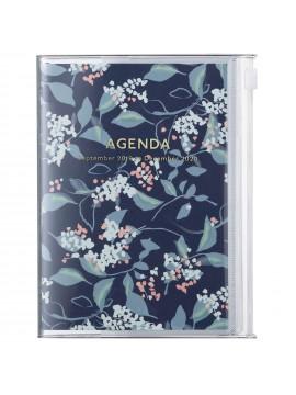 2020 Diary A6 vertical, Flower // Navy
