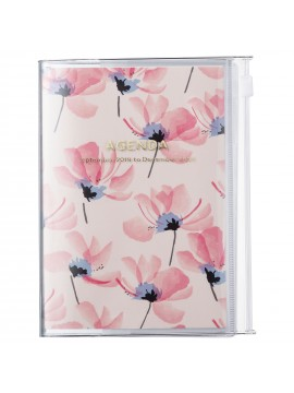 2020 diary weekly vertical 16 Months A6 Pink - Flower