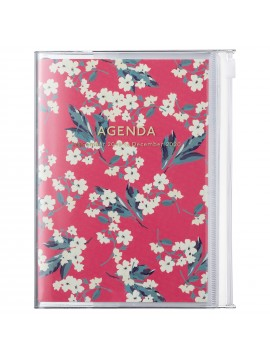 2020 diary weekly vertical 16 Months A6 Red - Flower