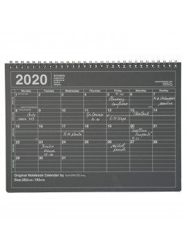 2020 Monthly Calendar M Black - Mark's