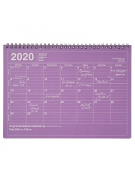 2020 Monthly Calendar M Purple - Mark's