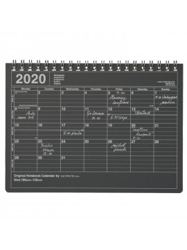 2020 Monthly Calendar S Black - Mark's