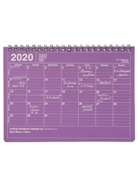 2020 Monthly Calendar S Purple - Mark's