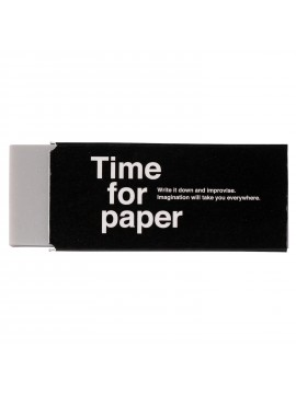 Eraser Rectangular Plastic Colored Black - Time for paper