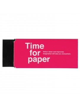 Eraser Rectangular Plastic Colored Pink - Time for paper