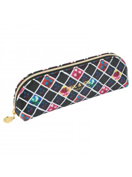 Pen Case S Tartan Floral -  PAUL & JOE La Papeterie