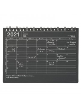 2020 Monthly Desktop Calendar S Black - Mark's