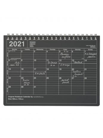 2020 Monthly Desktop Calendar S Black - Mark's
