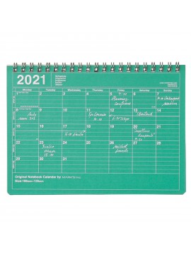 2020 Monthly Desktop Calendar S Green - Mark's