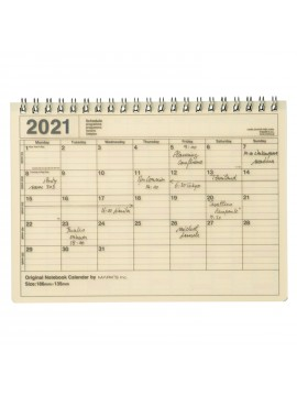 2020 Monthly Desktop Calendar S Ivory - Mark's