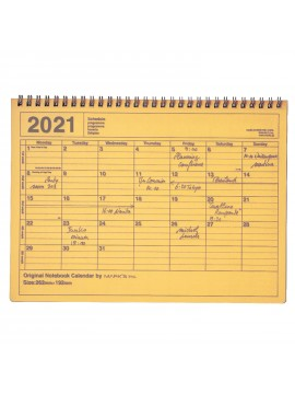 2020 Monthly Desktop Calendar Size M Yellow - Mark's