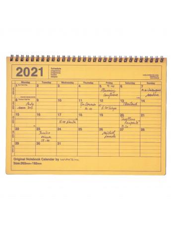 2020 Monthly Desktop Calendar Size M Yellow - Mark's