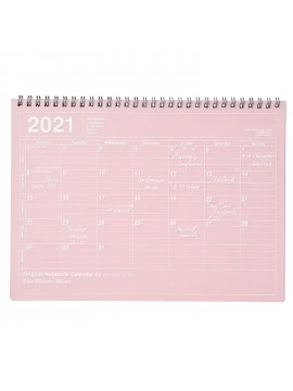 2020 Monthly Desktop Calendar Size M Pink - Mark's